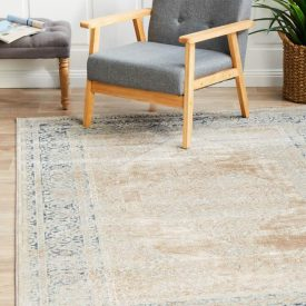 Rug rectangualr washed effect traitional cream PVD-836-CRE